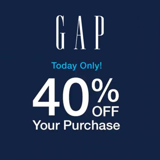 Today Only: 40% Off Your Purchase With Code