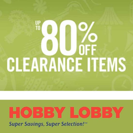 Up to 80% Off Clearance Items