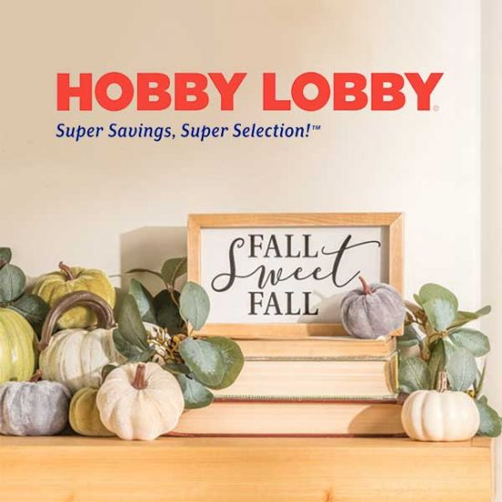 50% Off Fall Crafts and Decor In-Store and Online