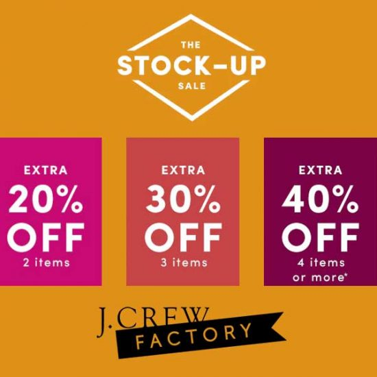 Stock-Up Sale: Up to Extra 40% Off