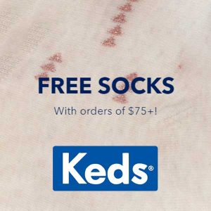 Free Keds Socks with $75+ Purchase