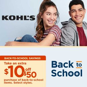 Extra $10 Off Any $50 or More Back-to-School Purchase