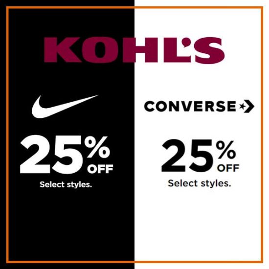 25% Off Nike and Converse Select Styles
