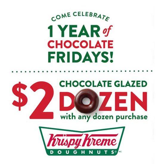 $2 Chocolate Glazed Dozens With Any Dozen Purchase