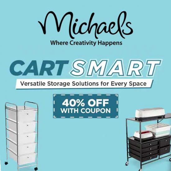 40% Off Carts, Trays, Shelves and More