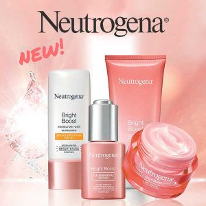 Free Cosmetics Bag w/ 3 Bright Boost Product Purchase