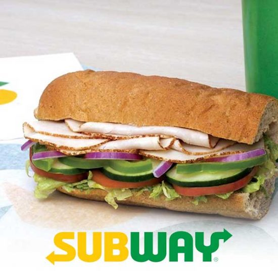 $5 Off Any Subway Order Paid Using PayPal