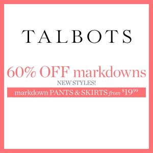 60% Off Markdowns in End of Season Clearance Sale