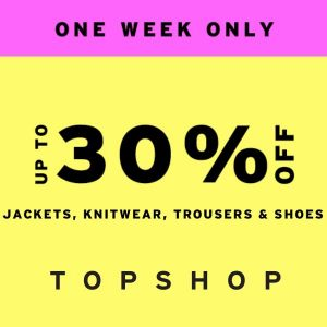 Up to 30% Off Jackets, Knitwear, Trousers and Shoes