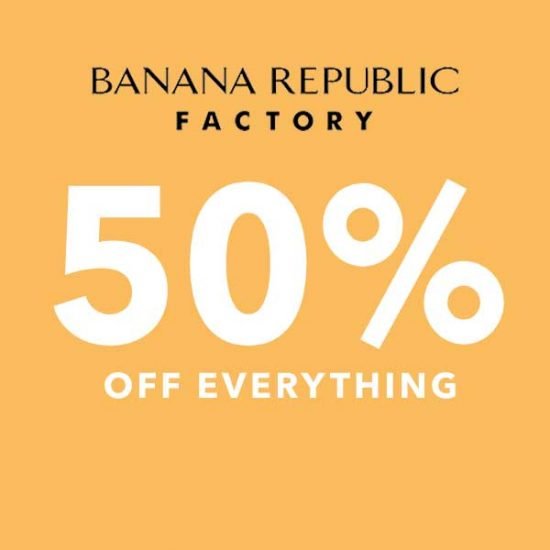 Ends Today: 50% Off Everything