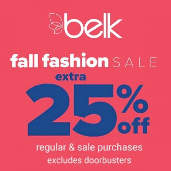 Extra 25% Off Regular & Sale Purchases + 15% Off Select Items