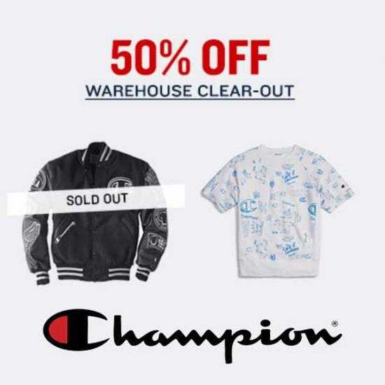 50% Off in Warehouse Clear-Out Sale