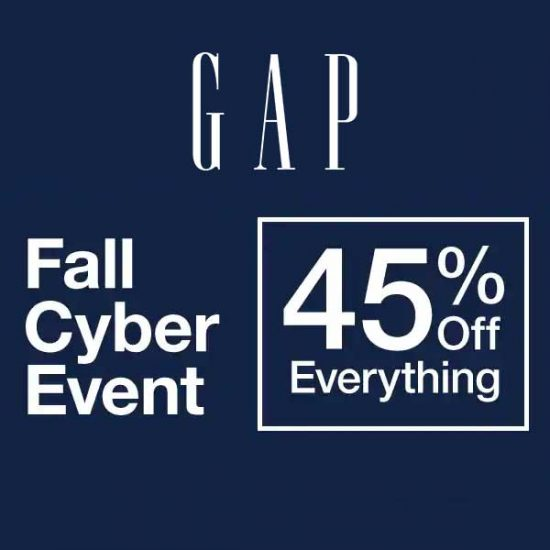 Fall Cyber Event: 45% Off Everything
