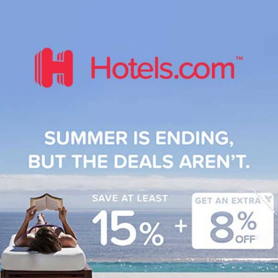 15% or More Off Select Hotels+ Extra 8% Off w/ Code