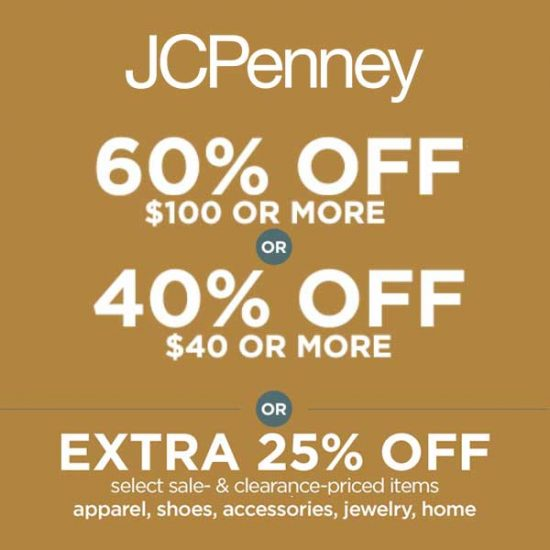 Up to 60% Off Original & Regular or Extra 25% Off Sale Items