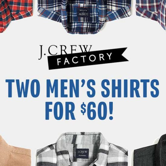 9/12 Only: 2 for $60 Men's Shirts