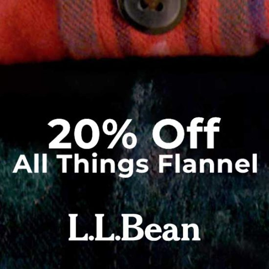 20% Off All Things Flannel