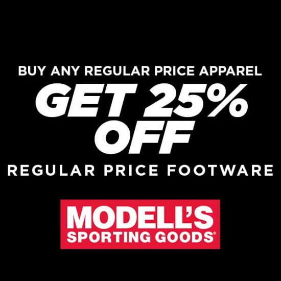 25% Off Footwear with Purchase of any Apparel