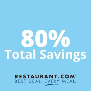 80% Total Savings on Your Next Meal