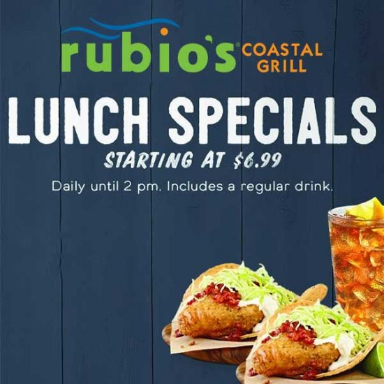 Lunch Specials Starting at $6.99