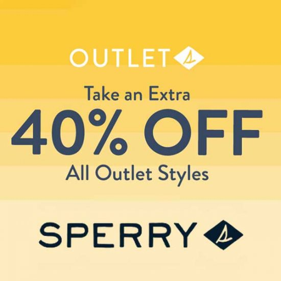 Extra 40% Off All Outlet Styles With Code
