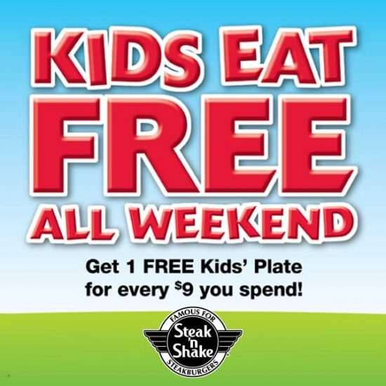 Kids Eat Free All Weekend at Participating Locations