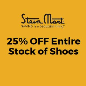 25% Off Entire Stock of Shoes